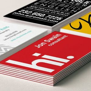 100 Business Cards printed colour double sided